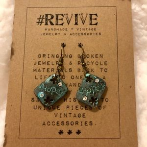 One of a kind handmade rustic dangling earrings